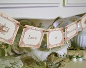 Love is Brewing Banner Tea Party Banner Teapot Garland Bridal Shower