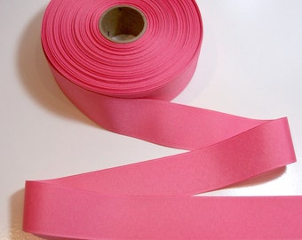 Pink Ribbon, Pink Coral Grosgrain Ribbon 1 1/2 inches wide x 10 yards, SECOND QUALITY FLAWED