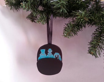 Haunted Mansion DOOM BUGGY hitchhiking ghosts christmas ornament