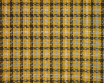 Homespun Fabric | Sewing Fabric | Cotton Fabric | Quilt Fabric | Rag Quilt Fabric | Yellow White Grey And Charcoal | 1 Yard