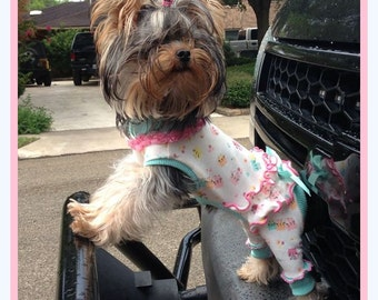 Pet Clothing Pajamas Ruffled Bum Jammies Hello Kitty To Order