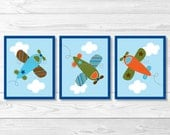 Cute Airplane Nursery Wal...