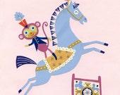 Horse Circus Star Print 8.5 x 11