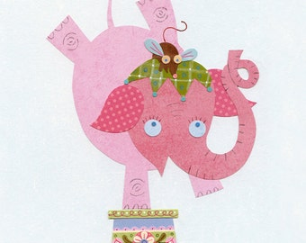 Elephant Circus Star Print 8.5 x 11