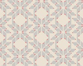Recollection---Fairisle Hearts Greige---Katarina Roccella for Art Gallery Fabric