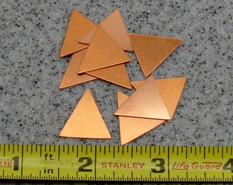 18.7 x 18.5mm Copper Triangle 24 Gauge  Pack of 10