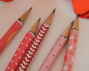 Hand wrapped Love pencils