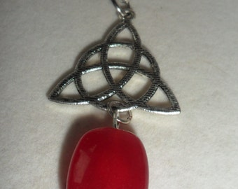 Welsh Witch Brigit  Crystal Healing Red Chalcedony Amulet