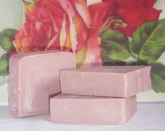 1 Bar - French Rose Clay Olive Oil Soap, Free Shipping