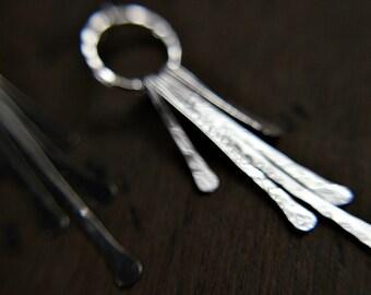 Sterling silver fringe earrings - everyday jewelry - bohemian -  minimalist earrings - dangle earrings - paddle earrings