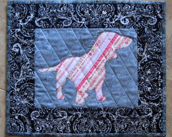 DACHSHUND Mini Selvage Quilt Collection from Quilts by Elena Wall Hanging Table Topper Selvages