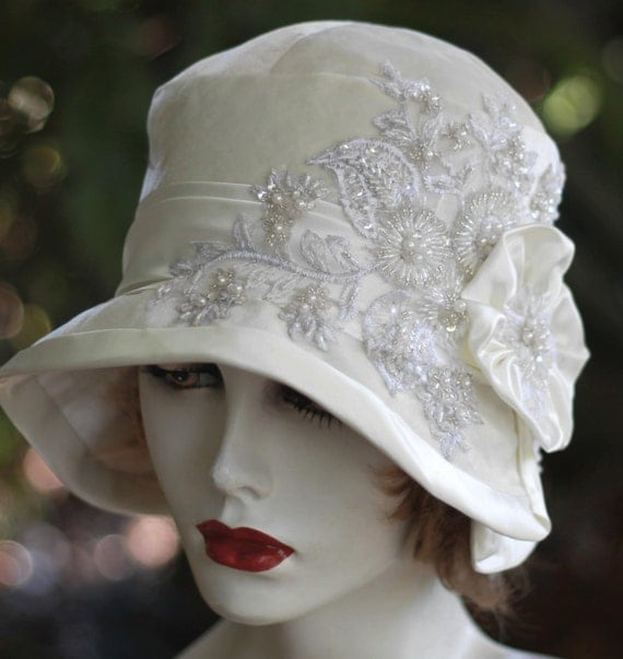 1920 s gatsby vintage style cloche wedding bridal evening special