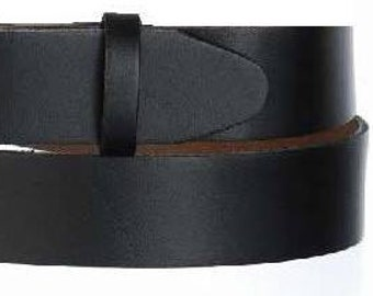 "Narrow Black Belt Strap- Snap On- Mens Womens- Oil Tanned Leather- 1 1/4"" Width- USA Made 32 33 34 36 38 39 40 42 44 46 48 50 52 54 56 58 60"