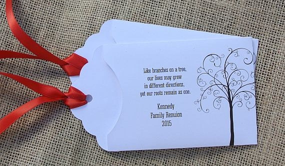 Custom Lottery Ticket Envelopes for Family Reunions, Family Reunion ...