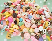 Price Down )) Assorted 10 pcs Sweets/ Food/ Fruits Cabochon CD541