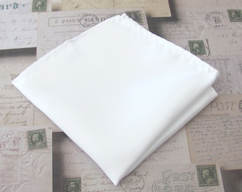 Pocket Square White Hankie