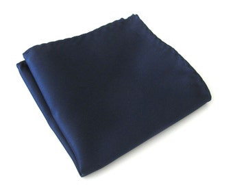 Pocket Square Solid Navy Blue Hankie