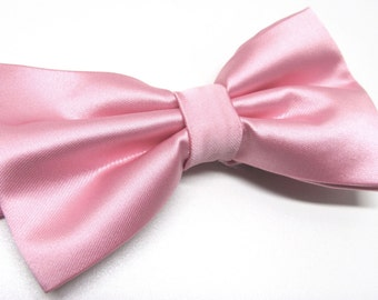 Mens Bowtie. Pink Bowties. Pink Bow tie With Matching Pocket Square Option