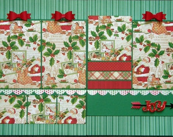 CLEARANCE 12x12 double page Christmas layout (A)