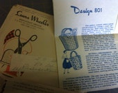 SALE Vintage 1950s Laura wheeler totes handbag purse sewing pattern New York post mark