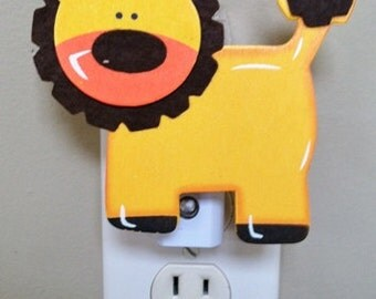 Lion Night Light, Jungle Night Light, Safari Night Light, Lion, Personalized