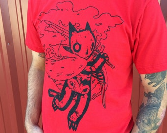 Mens Red Skeleton Shirt