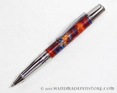 Handmade Acrylic pen - SUPERHERO with Stainless Steel in Liberty Style