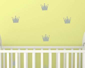 Crown Decals  Baby Nursery Decals king and Queen Geometric Wall Decals  25 Princess Crown  Bathroom Decal Teen Gifts Trendy Gifts Sorority