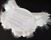 10 Lavender Angel Wing Invitations