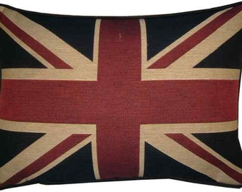 Traditional Union Jack British Flag Tapestry Cushion Pillow Cover