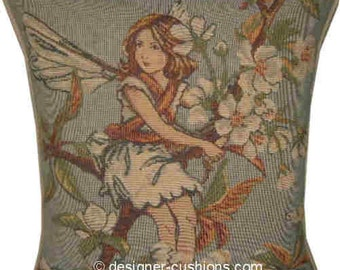 Flower Fairies Sweet Pea Tapestry Cushion Pillow from the books of Cicely Mary Barker