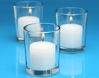 Clear Glass Candle Holders Votive Holders TeaLights Tea Lights