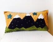 Snowy Mountain Pillow