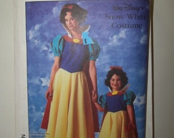 Girl's Snow White Costume Pattern Simplicity 7735 Uncut Girls Sizes 10 - 12