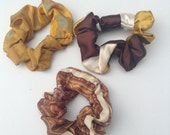 Scrunchies set yellows and browns