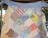 ON SALE - Vintage 1950s Apron patchwork quilt colorful