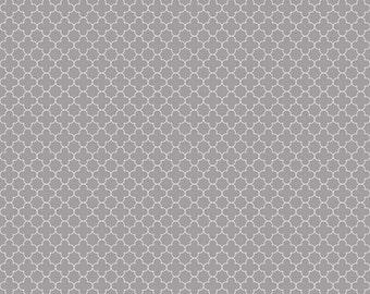Mini Quatrefoil in Gray (C345-40) - cut options available