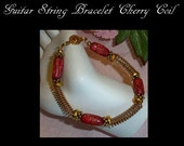 Guitar String Jewelry, Cherry Coil