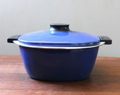 Catherineholm Blue Tivoli. Vintage cooking pot, made in Holland. Rare.