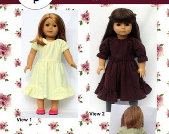 18 inch doll clothing pattern NEW Gwen Dress 18 inch doll clothes Modern Sewing Pattern  PDF Patron instant download