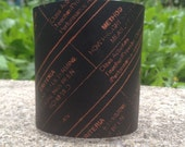 Leather Cuff, IEP Screen Print, Individualized Educational Plan, Leather Bracelet, Ready to Ship