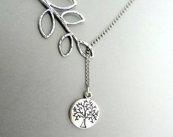 Tree of life pendant Tree of life necklace Tree of life jewelry ,Branch Necklace, Lariat Necklace SALE