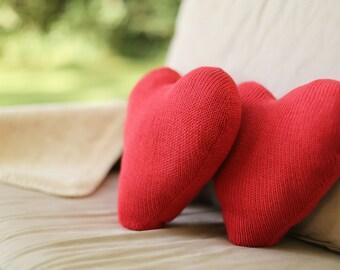 Knit Heart Pillow