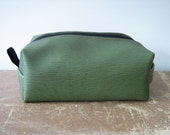 Vegan Leather Unisex Dopp Kit, Toiletry Bag, Cosmetic Bag, Made in Maine