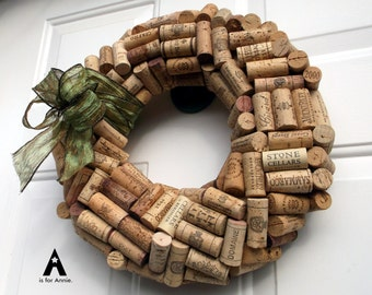 Wine Cork Wreath - medium