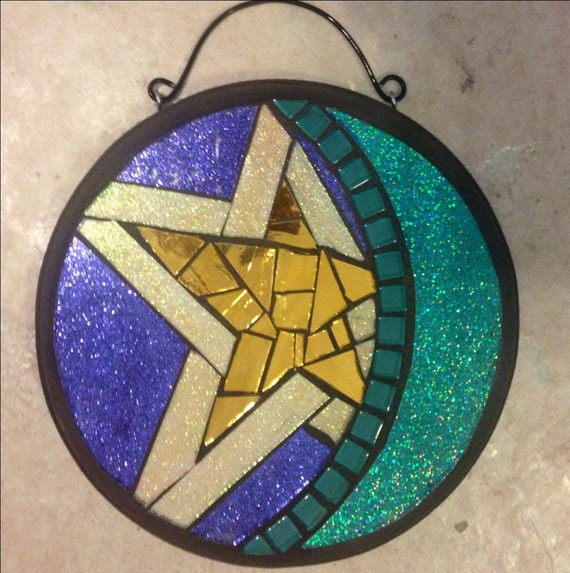 "7"" Stained Glass Mosaic Plaque"