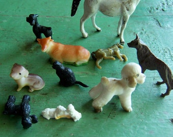 dogs cat and friends figurines