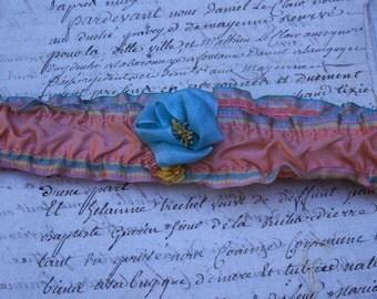 Antique Colorful Flapper garter belt.