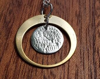 Circle, Necklace, Pendant, Everyday piece, Texture, Vintage, Lace, Romantic, Elegant, Timeless, Design, Classy, Classic
