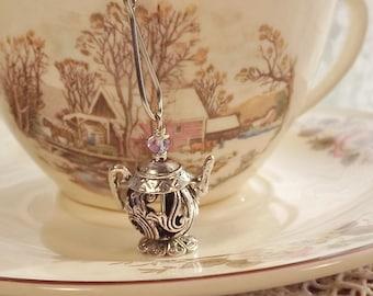 Silver Swirls, Tea Time,  Mesh Tea-Ball